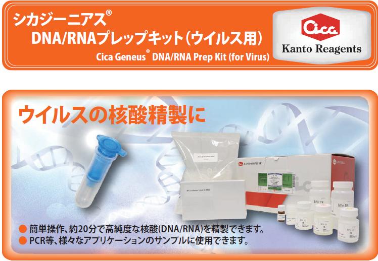 シカジーニアスDNA/RNAプレップキット(ウイルス用)